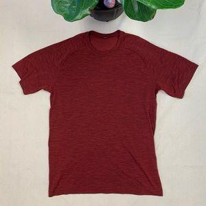 Lululemon Men's Athletic Red T-Shirt Size Medium